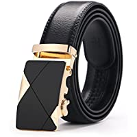 """Men's Belt, Gifny Leather Ratchet Dress Belts for Men with Automatic Buckle 1 3/8"""" Wide Adjustable from 20"""" to 43"""" Waist"""