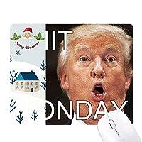 アメリカの大統領は月曜日にトランプのおかしいクソ サンタクロース家屋ゴムのマウスパッド