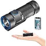OLIGHT(オーライト) S1 Baton 小型軽量LED フラッシュライト 最大500ルーメン Cree XM-L2 CW LED搭載 CR123A or RCR123A電池,4段階切替 電池付き
