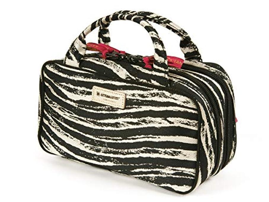 コンセンサスなめらかなバルセロナ[アルティザン&アーティスト] ビューラーポケット付きポーチ <Zebra Chic(ゼブラシック)> 9WP-ZB02 ブラック…