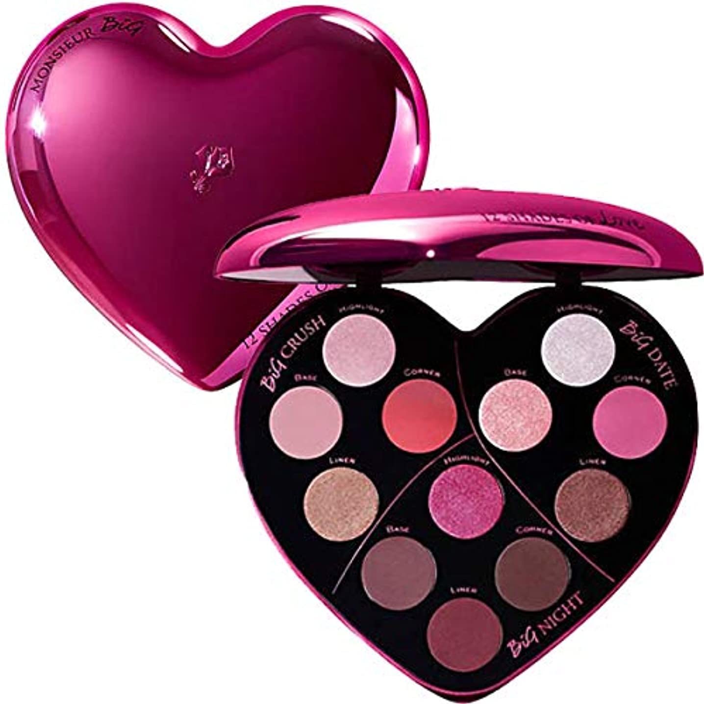 殺人細部ビザランコム(LANCOME), 限定版 limited-edition Monsieur Big Heart-Shaped Eyeshadow Palette [海外直送品] [並行輸入品]