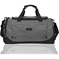 EGOGO Canvas Duffle Bag Gym Luggage Bag Cross Body Tote Bag Weekend Overnight Travel Bag E532-3