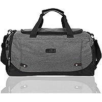 EGOGO Canvas Duffle Bag Gym Luggage Bag Cross Body Tote Bag Weekend Overnight Travel Bag E532-3