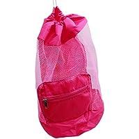 PINKING メッシュバッグ おもちゃ入れ袋 お砂場バッグ 大容量 砂遊び ビーチ 持ち運びやすい