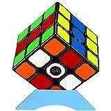 QiYi Magic Cube [2020最新] 魔方 3x3 競技用 立体パズル ポップ防止 知育玩具【6面完成攻略書付き】スタンド付き (ステッカー 1個)