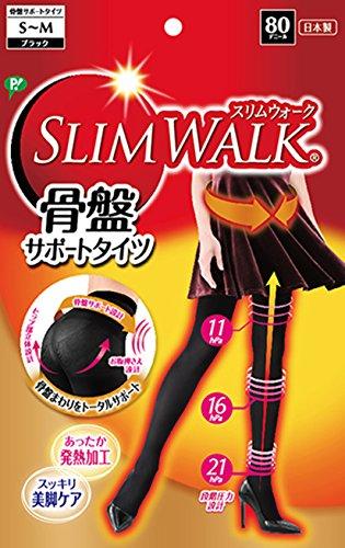 スリムウォーク 骨盤サポートタイツ ブラック S~Mサイズ