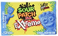 Sour Patch Kids Gum (Extreme Blue Candy, Raspberry, 14 count, Pack of 12) by Sour Patch Kids Gum