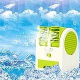 ミニ エアコン,ミュート 空気冷却器,ミニ携帯用エアコン ファン デスクトップ Usb Bladeless ファン オフィス ホーム-グリーン 12x11x15cm(5x4x6inch)