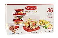 (ラバーメイド) Rubbermaid イージーファインドふた 食品ストレージセット 36-Piece レッド 1978452-Red