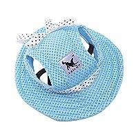 Goliven夏と秋のペット服新しいペット用品メッシュ通気性バイザー野球帽猫犬帽子帽子王女の帽子 (L,blue)