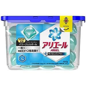 Amazon.co.jp: アリエール 洗濯洗剤 液体 パワージェルボール 500g ...