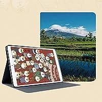 IPad mini5 ケース (2019モデル) スタンド機能 IPad mini 7.9インチ (2019新型) 軽量 薄型 保護カバー シンプル 二つ折タイプ フィリピンのマヨン火山山の牧歌的な景色熱帯の風景の装飾