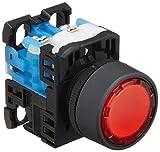 富士電機 照光押しボタンスイッチ 平形Φ24 赤 AR22F0L-10E3R