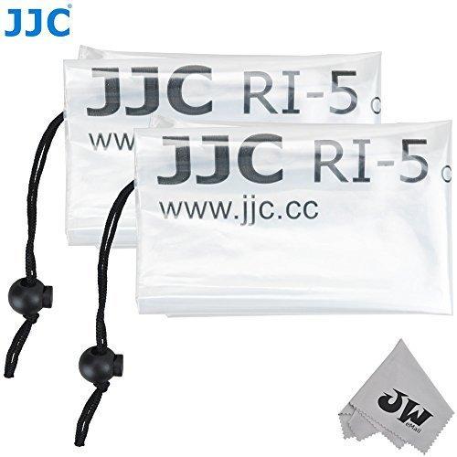 JW RI-5 デジタル一眼レフカメラ用レインカバー 2点セット 最大18インチ (45cm) レンズを取り付けたカメラに対応 Canon ズームレンズ EF 70-300mm 1:4-5.6 IS USM Nikon AF-S NIKKOR 24-120mm F/4G ED VR Tamron SP 70-300mm F/4-5.6 A005 Sigma 150-500mm F5-6.3 DG OS HSM レンズに対応 JW emallマイクロファイバークリーニングクロスが付属