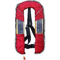 DABADA(ダバダ) ライフジャケット LED付き 大人 釣り ベスト 膨張式 CE認証取得済 男女兼用 ライフベスト フローティングベスト インフレータブル 救命胴衣 ソーラー充電