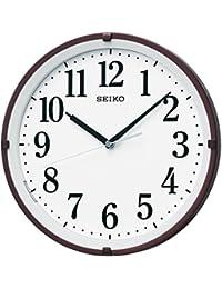 セイコー クロック 掛け時計 自動点灯 電波 アナログ 夜でも見える 茶 メタリック KX205B SEIKO