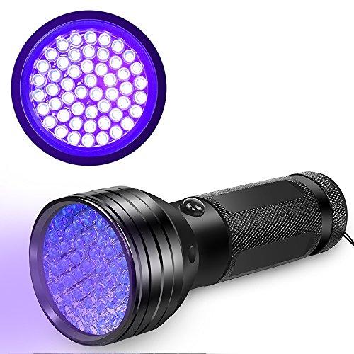 51LED 紫外線 ブラックライト UVライト BEBONCOOL ペットのオシッコ汚れ対策 偽札対策 蛍光剤残留確認 鉱物鑑定 ガス漏れ検査 サソリ捉え 夜釣り コンパクト 持ち運びやすい