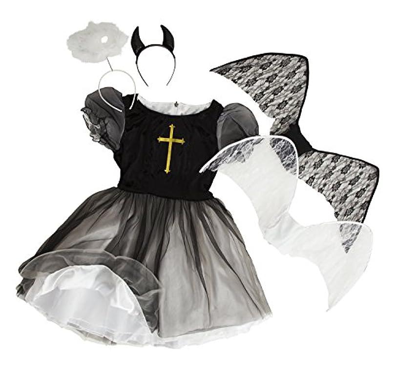エスカレート極地反映する【リバーシブル】デビル&エンジェル 悪魔 天使 コスプレ レディース 黒 白