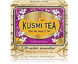 (KUSMI TEA) クスミティー ロシアン イヴニング N゜50 モスリン ティーバッグ 2.2g×20袋入り [正規輸入品]
