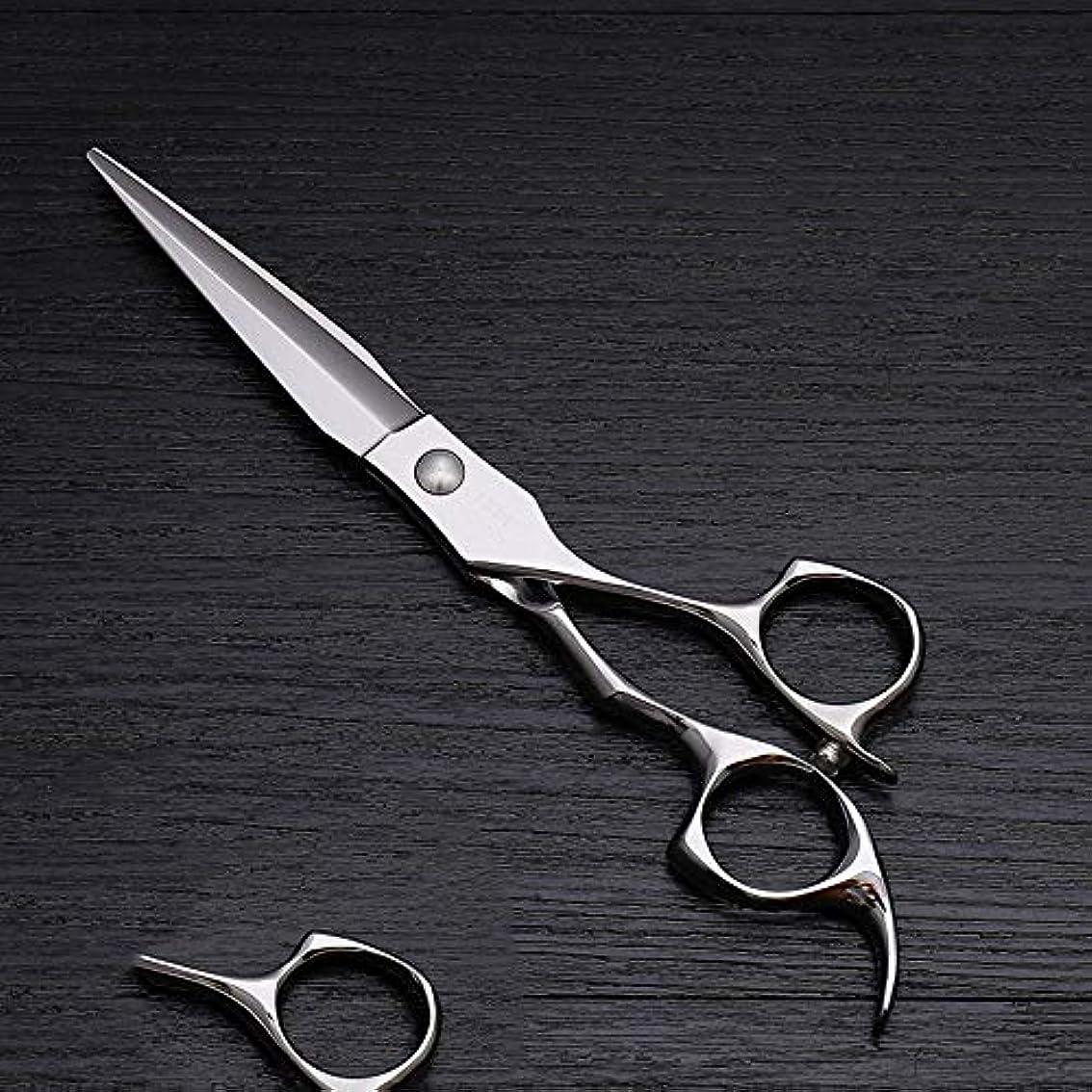 倉庫キネマティクス時間厳守6インチハイエンドステンレススチール理髪はさみツール、美容院特別理髪フラットせん断ツール モデリングツール (色 : Silver)