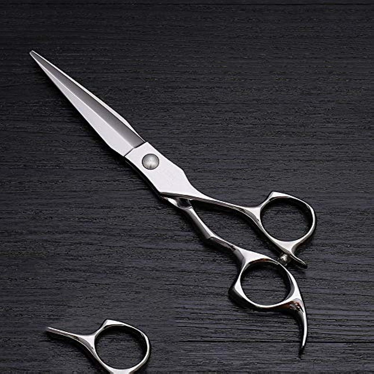 豆腐費やす舌6インチハイエンドステンレススチール理髪はさみツール、美容院特別理髪フラットせん断ツール モデリングツール (色 : Silver)