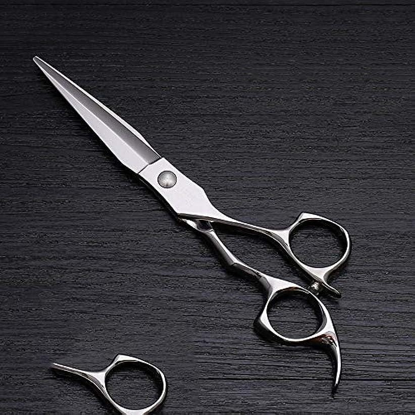 オリエンテーションセンチメンタル検体理髪用はさみ 6インチハイエンドステンレススチール理髪はさみツール、美容院特別な理髪フラットせん断毛切断鋏ステンレス理髪はさみ (色 : Silver)