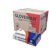 ビニール手袋 - パウダーフリー、ラテックスフリーでクリア、1ケース(100グローブ×10グローブ、合計1000グローブ)、中サイズ - ニューケースディール