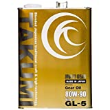 TAKUMIモーターオイル エンジンオイル 80W-90 4L FF車 LSD対応 4輪ギア・デフオイル GL-5 鉱物油