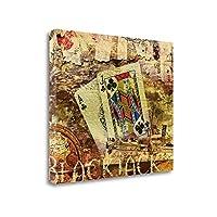 """""""ブラックジャック"""" by Eric Yang、アートジークレーギャラリーラップキャンバスの印刷、ハングする準備"""