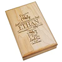 GiftsForYouNow Engraved First Communion Personalized木製Valet Box