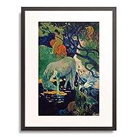 ポール・ゴーギャン Eugène Henri Paul Gauguin 「白い馬 The white horse. 1898」 額装アート作品