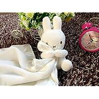 ShowkingキュートComfortersおもちゃコットンタオルソフトハンドタオルベビー掛け布団Toys Plush Cute Rabbit Toy _ホワイト