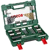Bosch 91-Piece Bosch V-Line Titanium Set For Drilling and Screwdriving, Comes with Ratcheting Screwdriver.