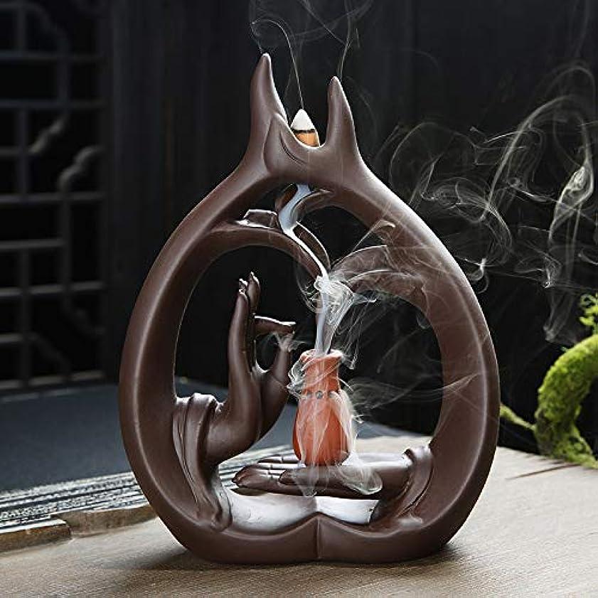 シンポジウム欠かせない続編アロマセラピーロッドバーナーブラケット-Zisha Buddha Hand Waterfall Incense Burner Large Sandalwood Furnace Creative Fragrance Xiangxiang...