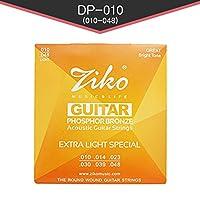 ZIKO アコースティックギター弦 Extra Light-高品質フォスファーブロンズ素材 010-048 3パックセット