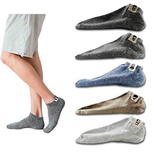 靴下 メンズ くるぶしソックス ショートソックス アンクルソックス スニーカーソックスメンズスポーツ用抗菌防臭 通気性抜群 5足組 24-28cm