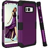 topbin Samsung Galaxy s8ケース、[超スリム] 3inプレミアムスリム軽量傷防止フィットカバーハードPC +ソフトシリコン全面保護Bestケースfor Samsung Galaxy s8