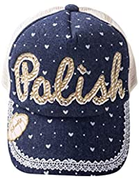 LeafIn ベビー 帽子 女の子 キッズ ハット キャップ 野球帽 ハート模様 ボールキャップ ドット柄 日よけ 紫外線対策 UVcut帽子 子供用