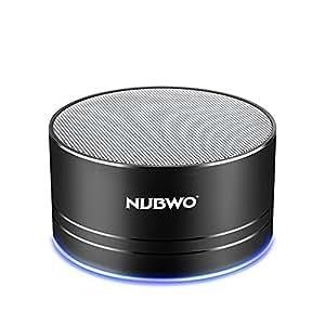 ブルートゥーススピーカー、Nubwo ワイヤレス ポータブル コンパクト Compact Bluetooth Speaker ミニスピーカー、5時間再生、ハンズフリーコール可能 高音質 3Wドライバー、AUXライン、TFカードスロット付き マイク内蔵 iPhone、iPod、iPad、Samsung、Sony、LGなどに対応(ブラック)