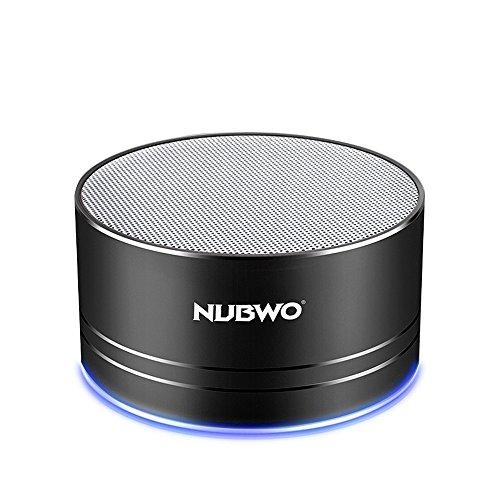 ブルートゥーススピーカー、Nubwoワイヤレス ポータブルト Bluetooth Speakerミニスピーカー、5時間再生、ハンズフリーコール可能 高音質 3Wドライバー、AUXライン、TFカードスロッ付き マイク内蔵 iPhone、iPod、iPad、Samsung、Sony、LGなどに対応 (黒)