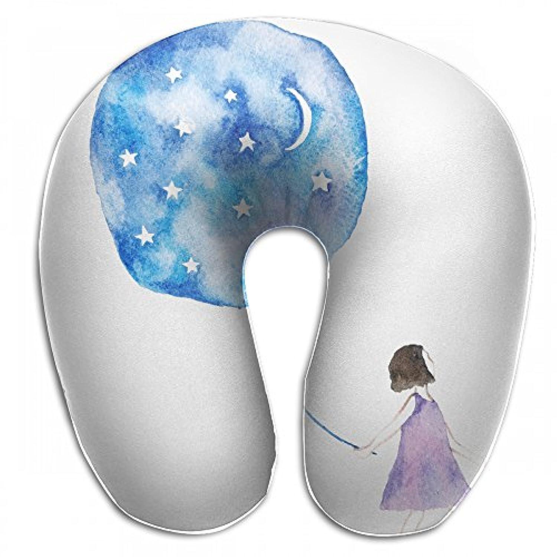 Merlin Quintina 風船 女の子 抱き枕 U字型クッション 首枕 ネッククッション 旅行ピロー360度快適な睡眠 子宮頸椎 保護 ポータブル