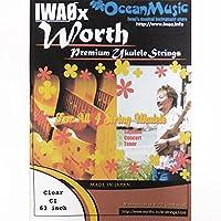 ワースストリングス Worth Strings フロロカーボン ウクレレ弦 IWAO セレクト スタンダードセット クリア CI 【NP】