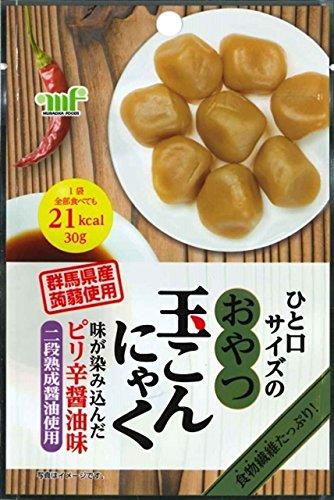 村岡食品 おやつ玉こんにゃく ピリ辛醤油味 30g×10袋