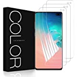 "G-Color Screen Protector for Galaxy S10 Plus, 6.4"" S10 Plus/S10+ Wet Applied TPU Film Anti-Bubble Screen Protector for Samsun"