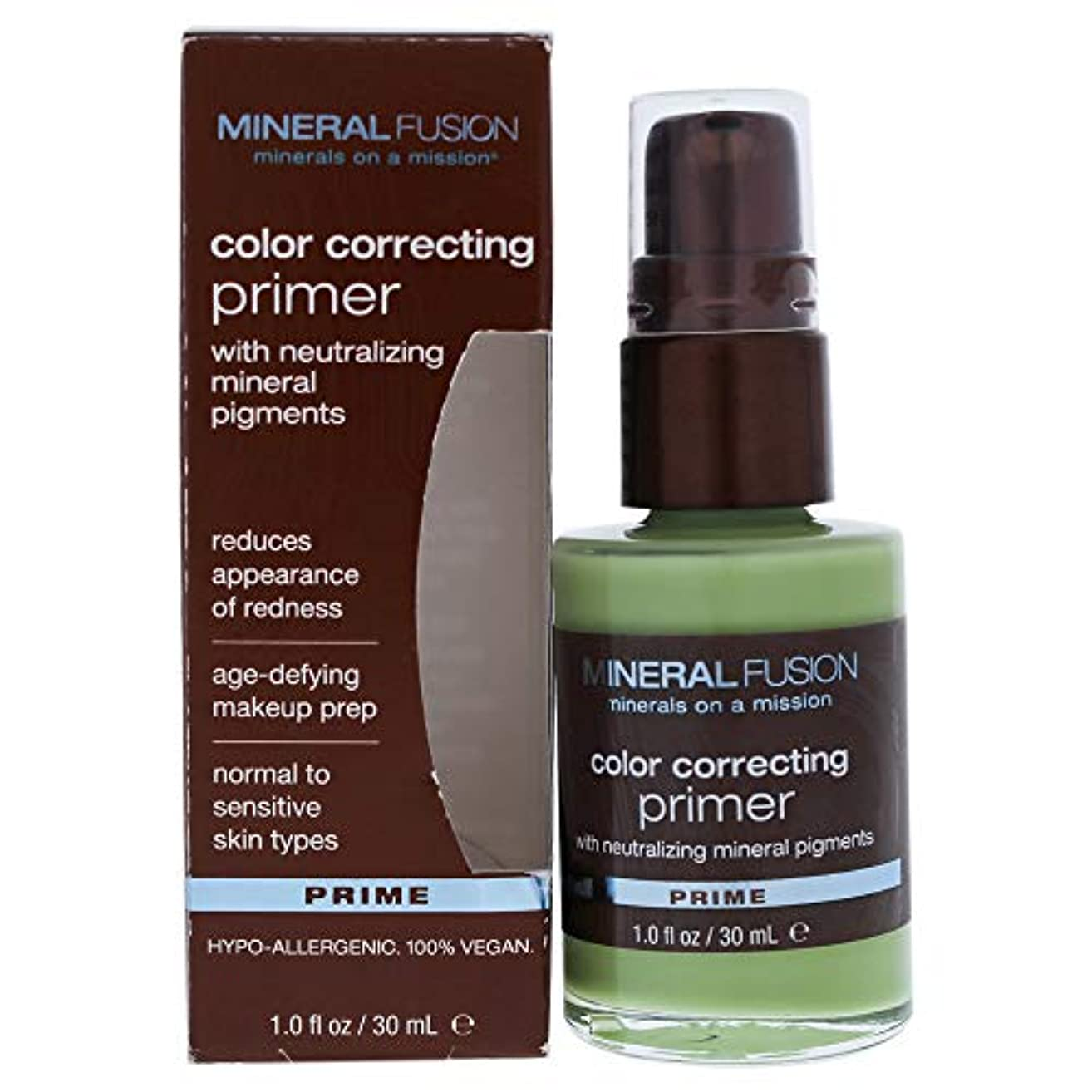 野なラビリンス廃棄Mineral Fusion, Color Correcting Primer, Prime, 1.0 fl oz (30 ml)