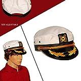 KANGOL Dazzlingおもちゃホワイトヨットキャプテン帽子コスチュームアクセサリーPretend Play Headwear