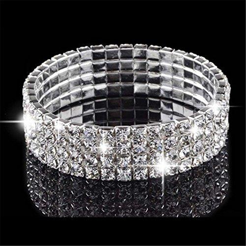 [해외][RIVA Jewelry] CZ 다이아몬드 [CZ] 라운드 컷 18K 화이트 골드 도금 [150mm] 테니스 팔찌 심플 모던 우아 [쥬얼리 파우치 무료]/[RIVA Jewelry] CZ diamond [CZ] round cut 18K white gold plating [150 mm] tennis bracelet simple modern eleganc...
