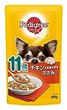 ペディグリー シニア犬 11歳から用 チキン&緑黄色野菜 ささみ入り 130g×10個入り [ドッグフード・パウチ]
