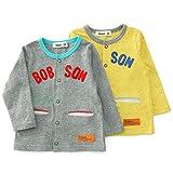 【アウトレット】 Bobson カーディガン(80~130cm) キムラタンの子供服 イエロー 95 ( 77219x77719-151a )