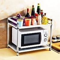 LIANGJUN 収納棚キッチンメタル電子レンジオーブンラック調味料ラック2サイズ、3タイプあり ( サイズ さいず : 2 layer-53X37X48.5cm )